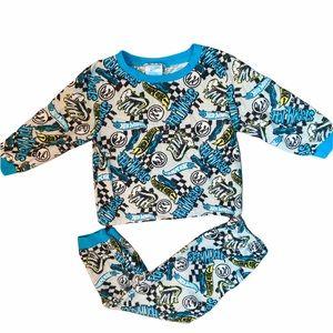 3T Boys Hot Wheels 2PC Pajama Set